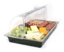 Portable Gastronorm Size Roll Top CHILLED DISPLAY Cooling Unit Hygienic Food Display.